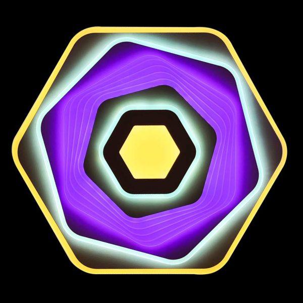 Светодиодная люстра с разноцветным светом фото