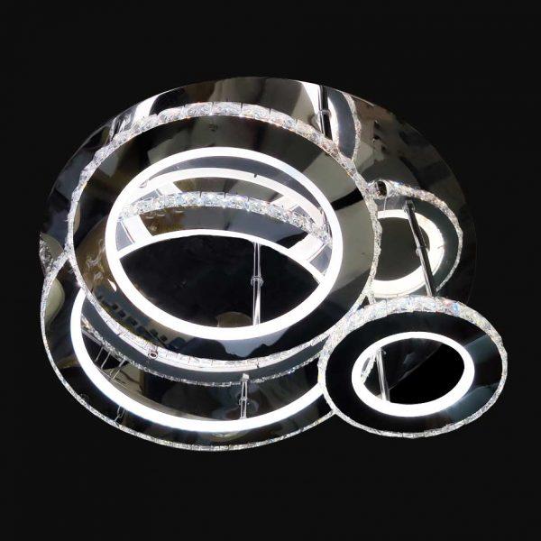 Люстра кругами хрусталь светодиодная фото