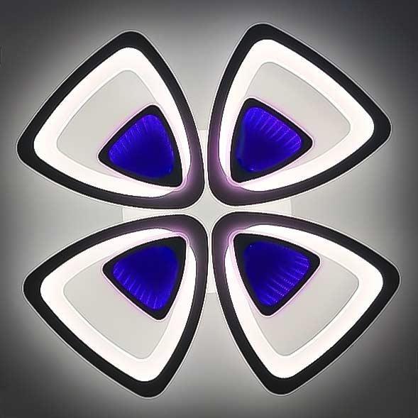 Люстра светодиодная 3D 4 треугольника фото