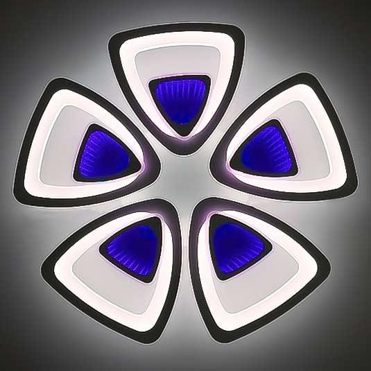 Люстра светодиодная 3D 5 треугольников фото
