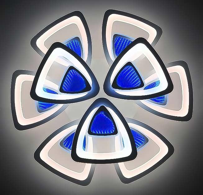 Люстра светодиодная 3D 9 треугольников фото