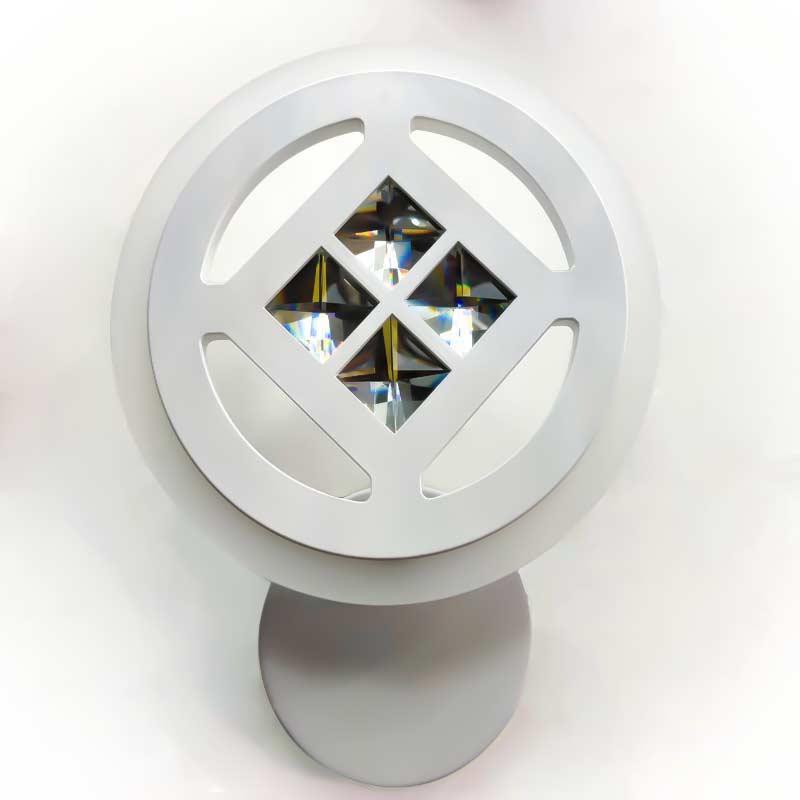 Бра круг светодиодный с хрусталем белый фото