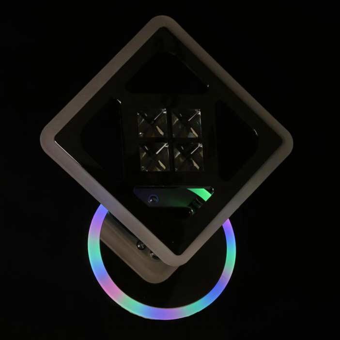 Бра диодный Romby Prime с подсветкой хром фото