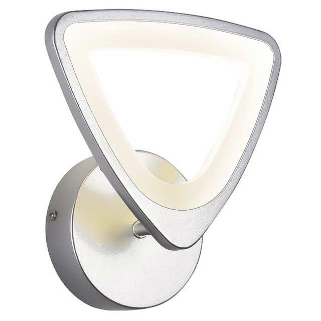 Бра светодиодный серебрянный треугольник фото