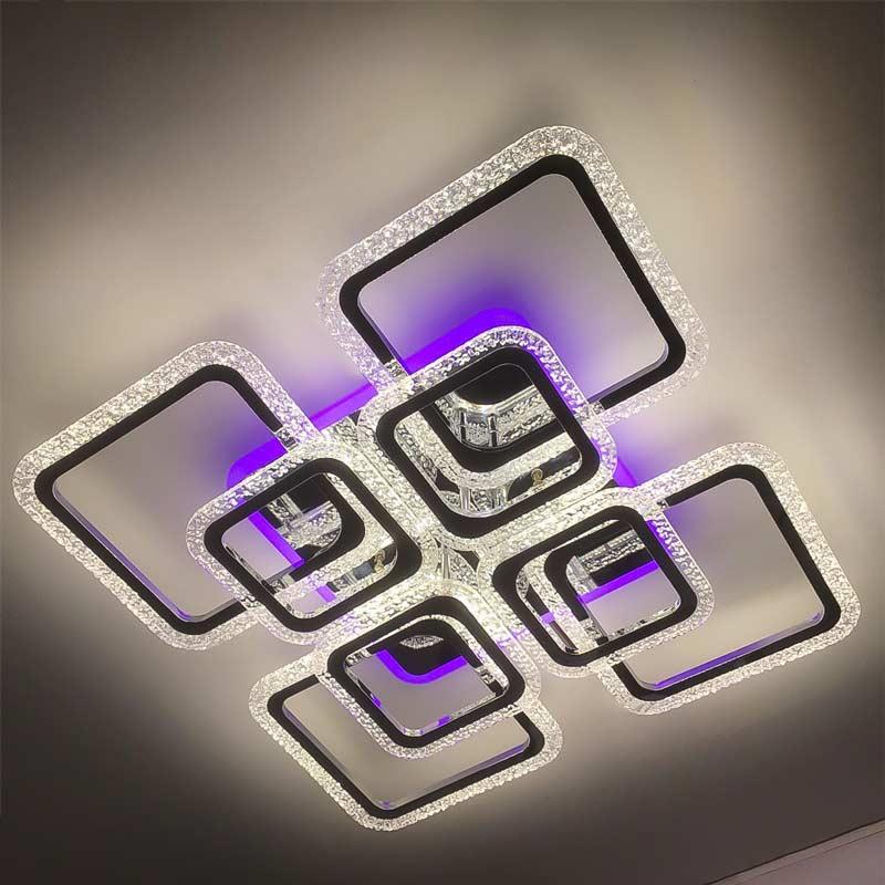 Диодная люстра bulb-square-8 квадротов фото