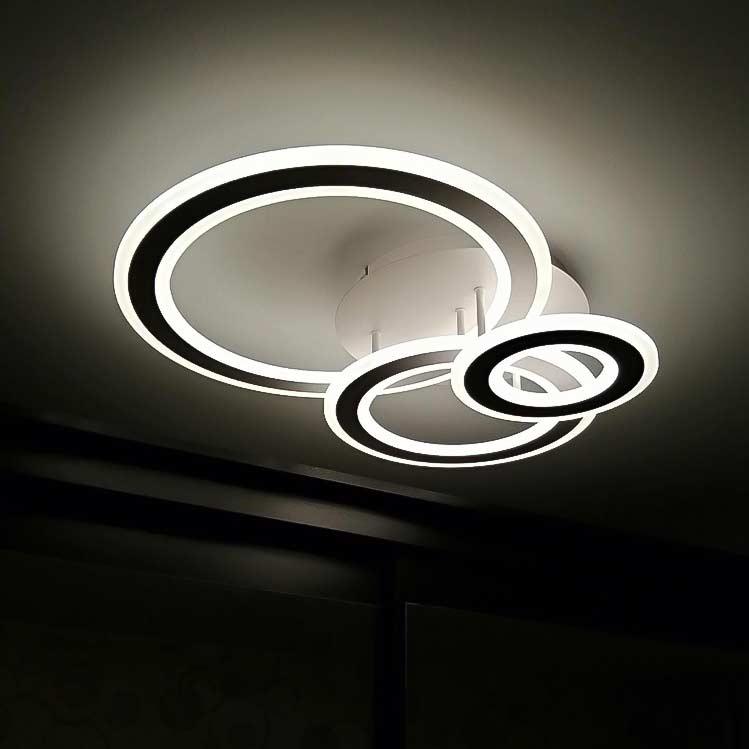 Люстра trio-circles-2 в интерьере фото