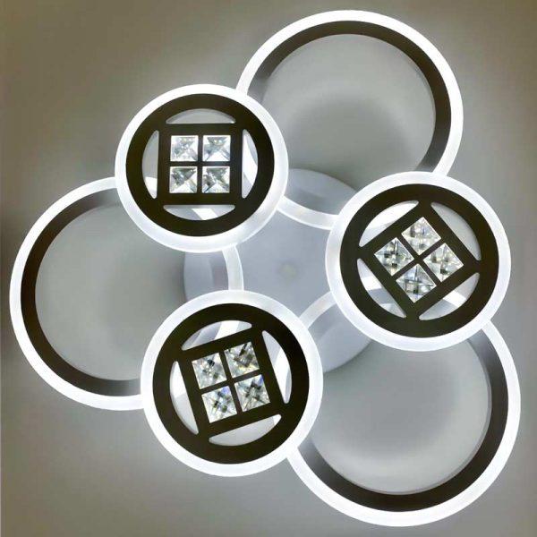 люстра круги с хрустальными камнями CircPremium фото