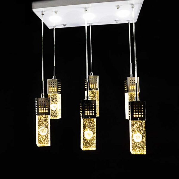 Люстра со светодиодными лампами Cubes 6 фото