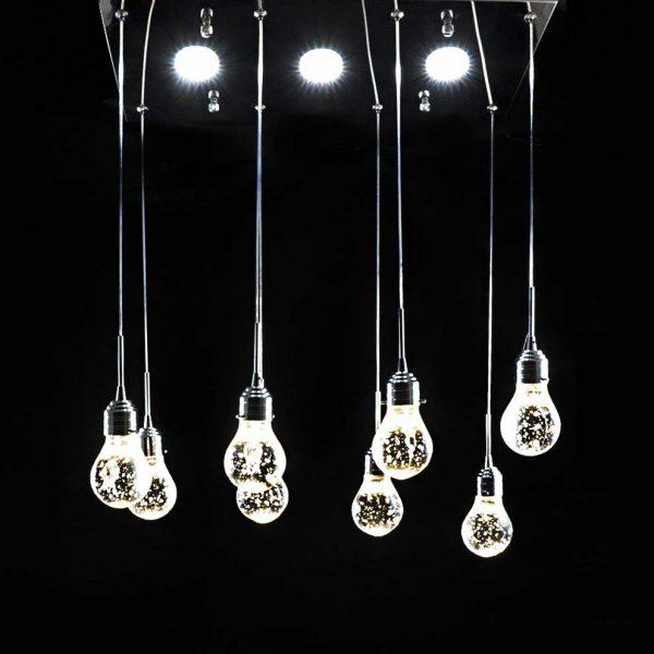 люстра свисающие 8 ламп Bulbs фото