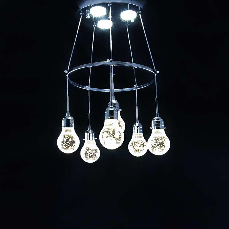 светодиодная люстра в виде 6 ламп фото
