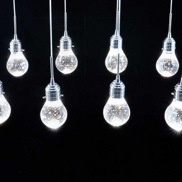Светильник лед подвесной восемь лампочек фото