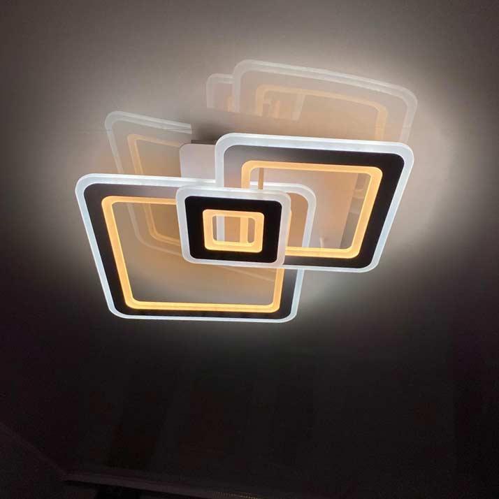 Люстра trio-squares-2 фото в интерьерре