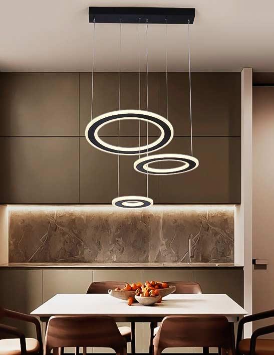 Люстра подвесная LED circles фото