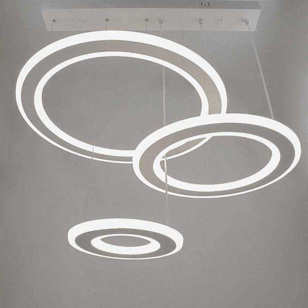 Cветодиодная люстра кольцами подвесная с пультом Circles фото