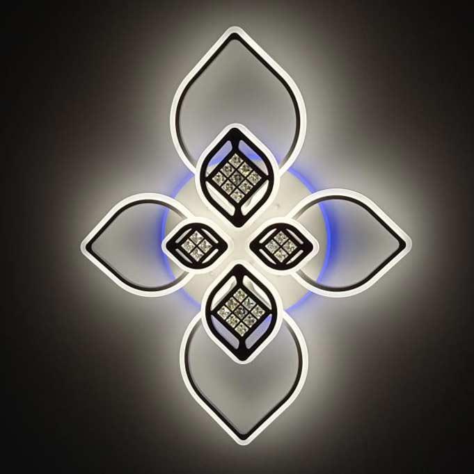 Люстра большие лепестки rgb подсветка фото