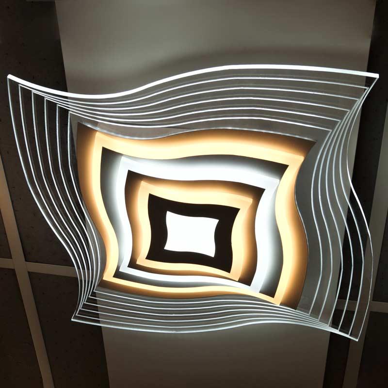 Люстра glass-curved светодиодная фото