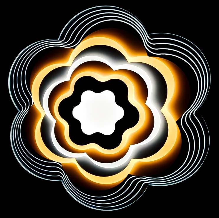 Люстра диодная Hidrogen с пультом фото