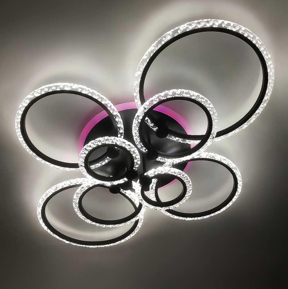 Люстра rings колцами с пузырьками 8 фото