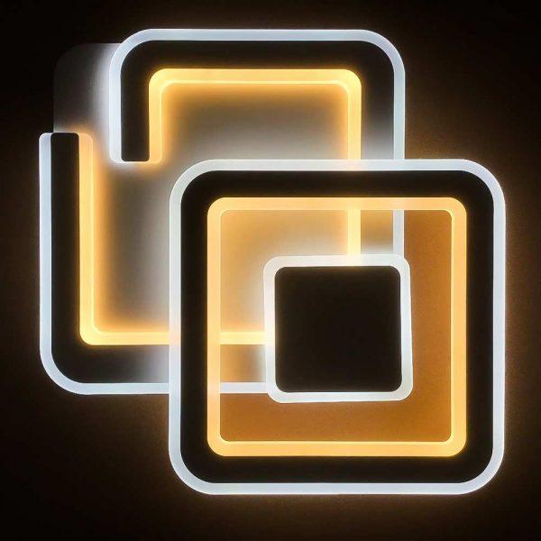 Люстра диодная геометрия квадраты Fortune фото