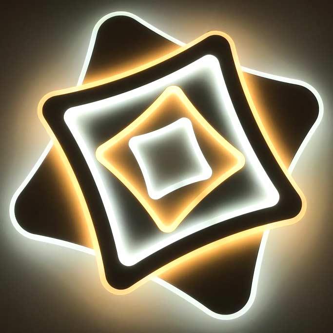 Люстра сведиодная с пультом геометрия ромбы Kross фото