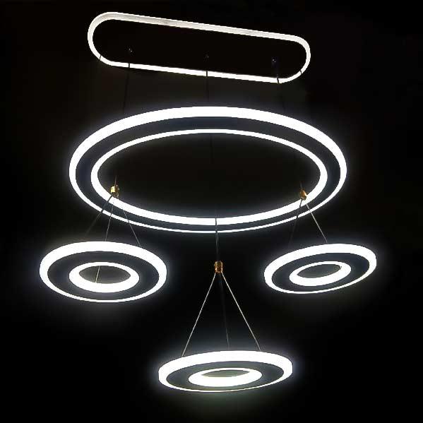 диодная люстра с пультом подвесная 4 круга Roundness фото