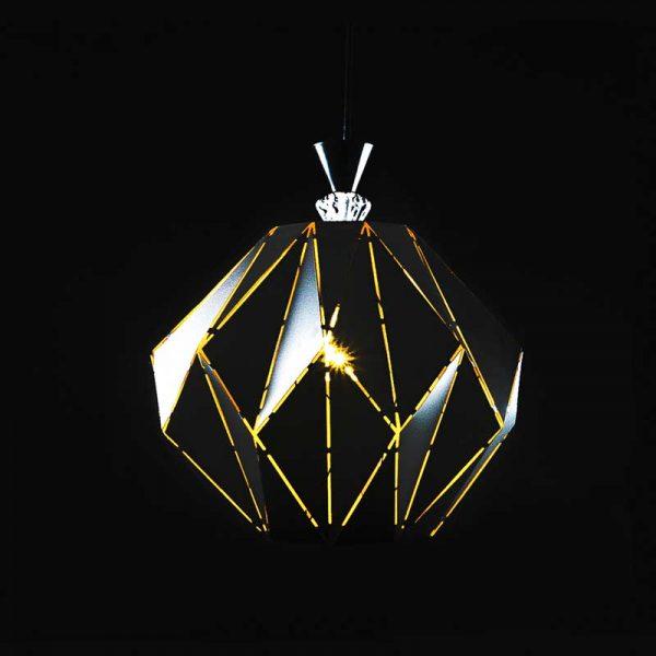 Подвесной светильник с ромбами стиль лофт Corner фото