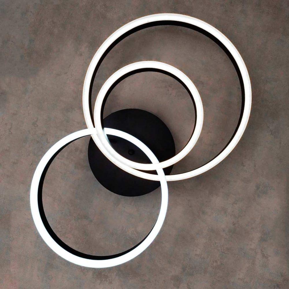 Люстра современная круги Smoothness 3 фото