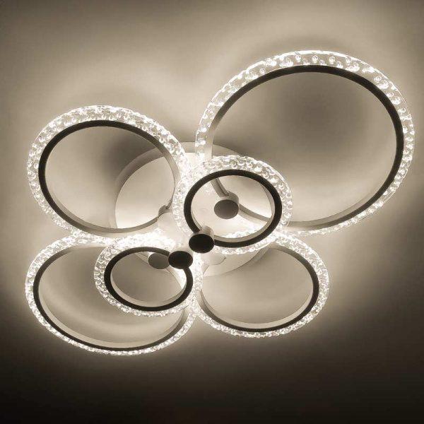 Светодиодная люстра bubl-rings 6 фото