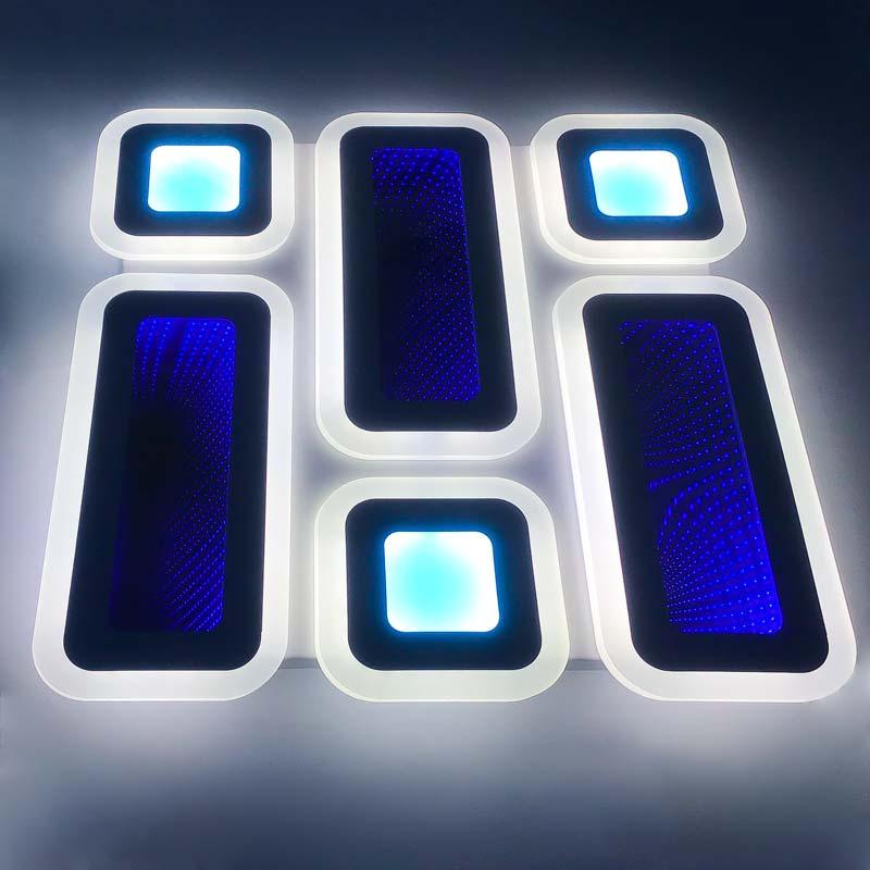 светодиодная люстра 3D прямоугольники Favorite фото