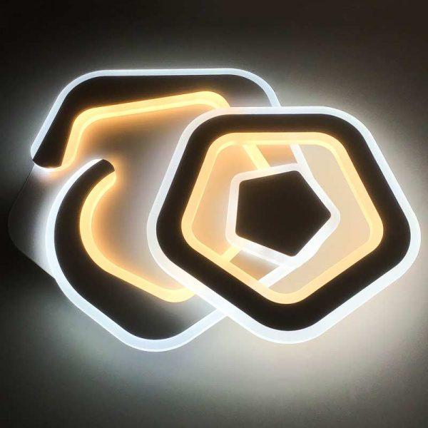 светодиодная люстра с пультом геометрия Crooked фото