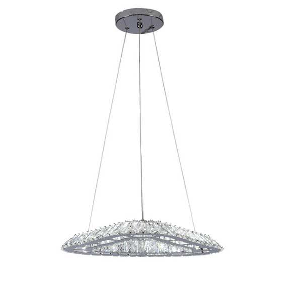 светодиодный светильник подвесной треугольник хрустальный фото