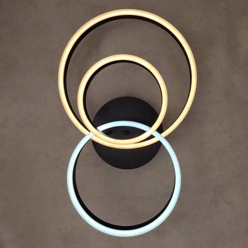 светодиодная люстра с 3 кругами Smooth Rings 3 фото