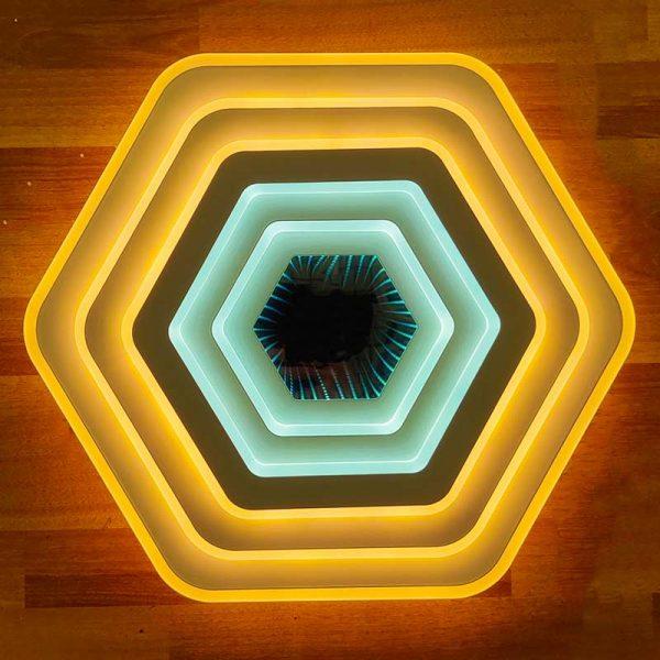 Люстра лед 3D геометрия фото