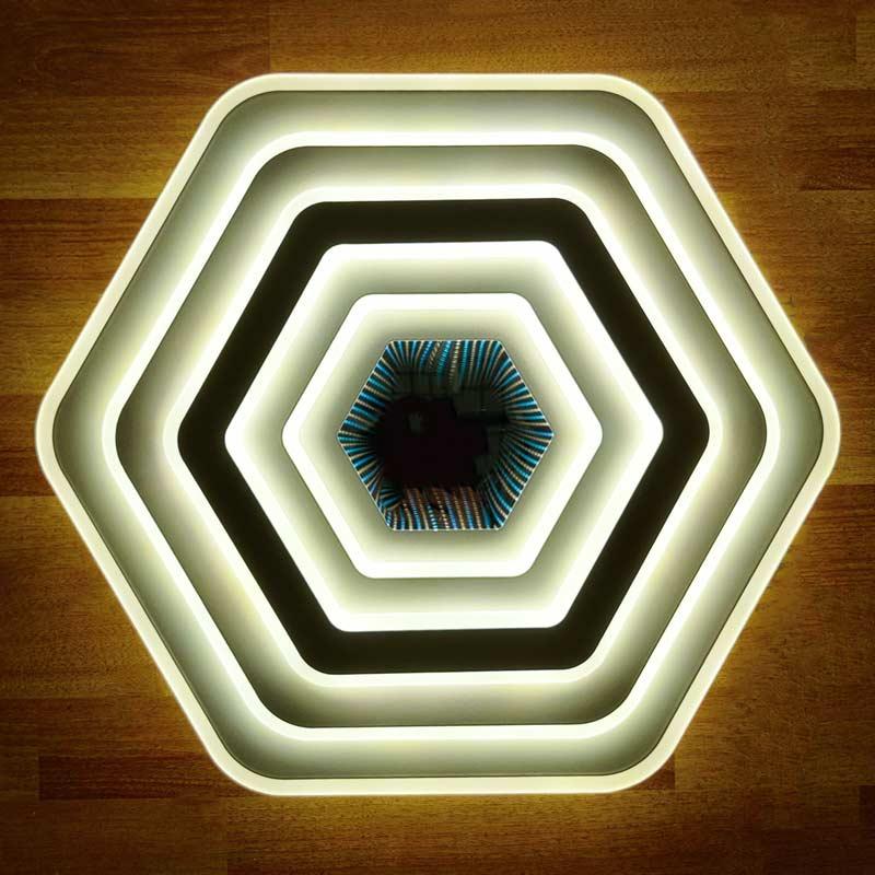 Люстра светодиодная c 3D эффектом фото