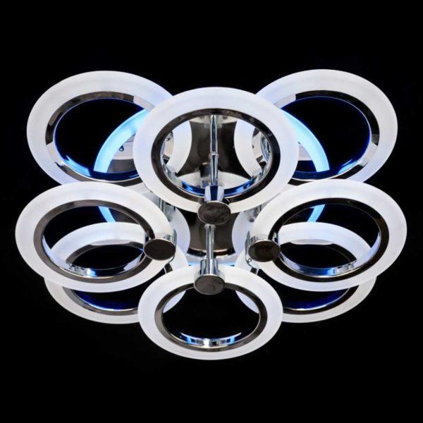 Светодиодная люстра 8 кругов Ringuss фото