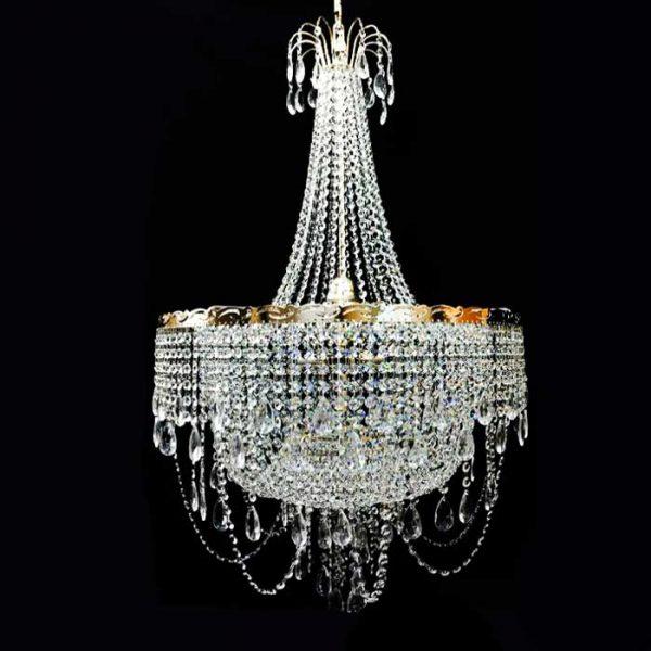 Высокая хрустальная подвесная люстра Luxuries фото