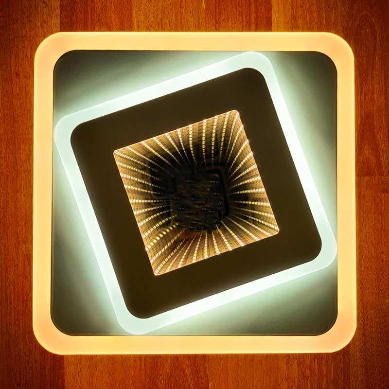 3d квадрат светильник фото