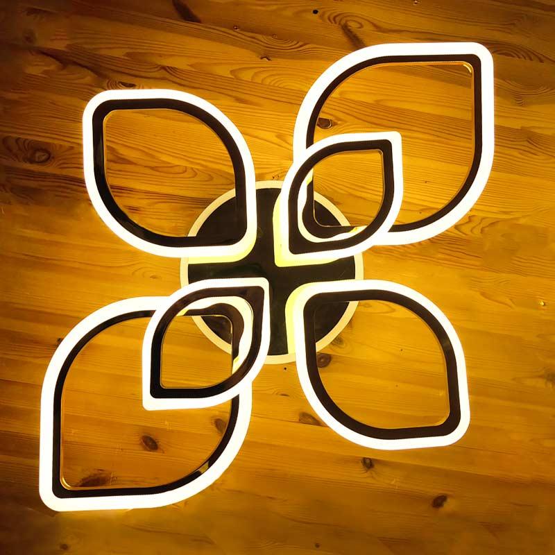 Светодиодная люстра Лепестки 6 цвет хром фото