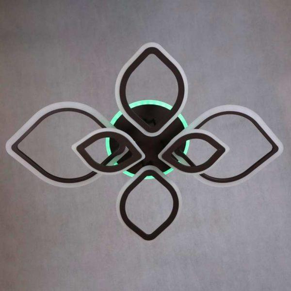 Светодиодная люстра Лепестки 6 цвет коричневый фото