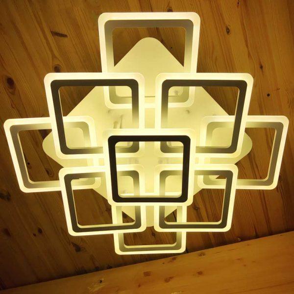 Люстра 9 квадратов LED фото