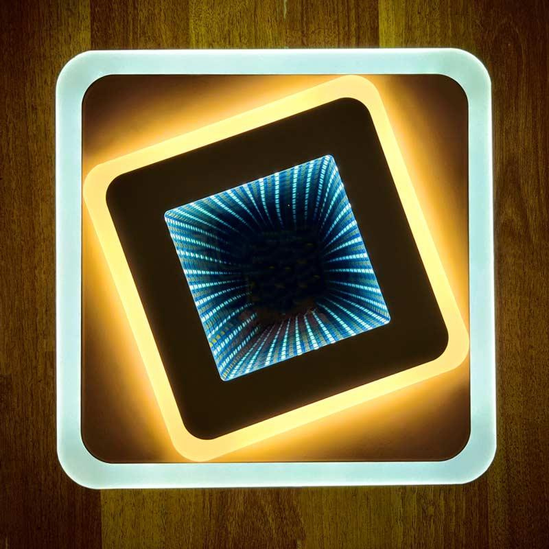 настенный светильник квадратный Quattro 3D фото