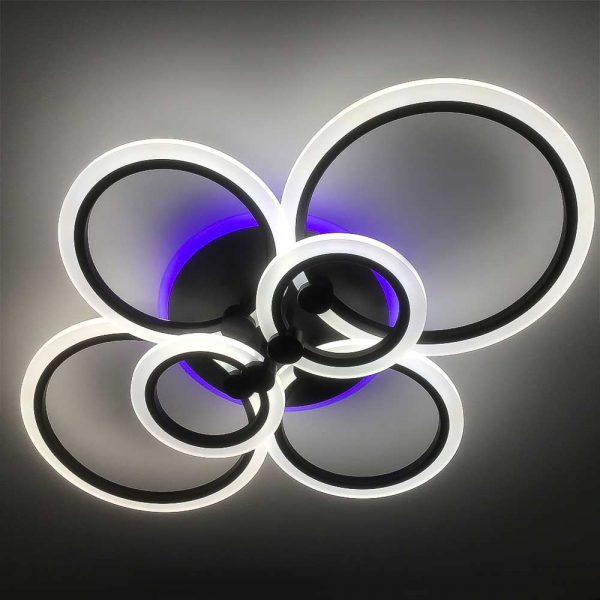 Люстра outer-rings-6 колец цвет черный фото