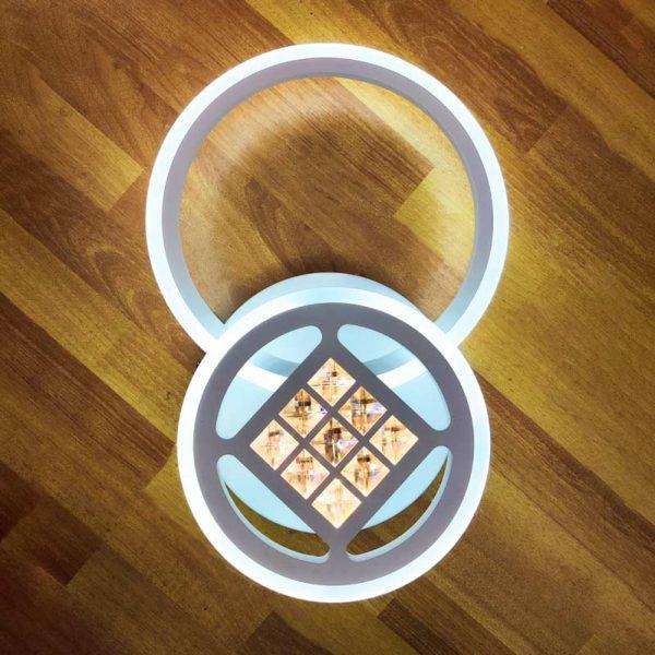 Потолочная люстра 2 круга фото