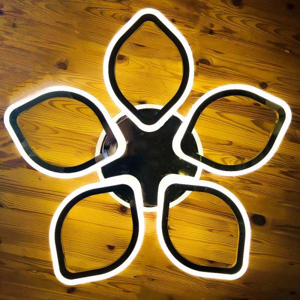 Потолочная люстра цветок 5 лепестков фото