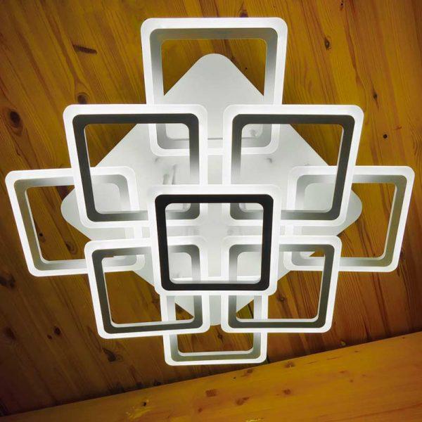 Потолочная люстра на диодах 9 квадратов фото