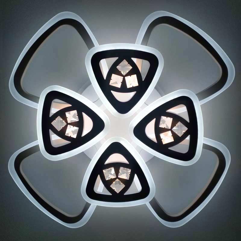 люстра 8 треугольников с хрусталем фото