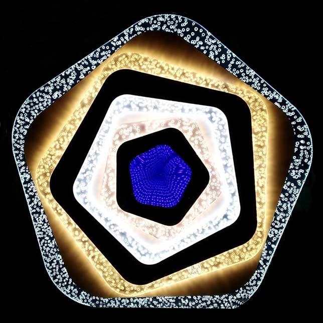 Светильник лед geometriya flows 3d фото