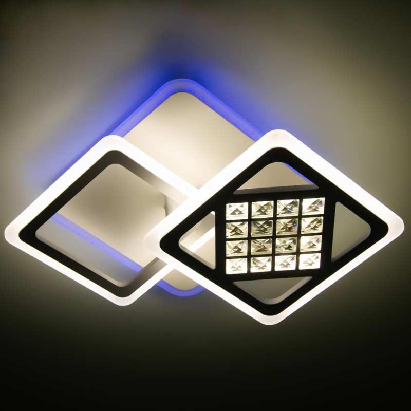 светильник квадраты с хрусталем NV Cristal фото