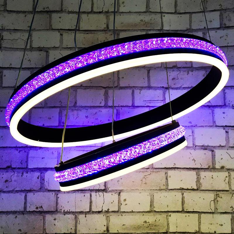 Лед люстра PurpleRings фото