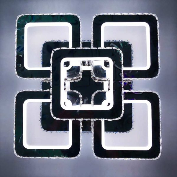 Люстра лед crystal-squares-5 фото